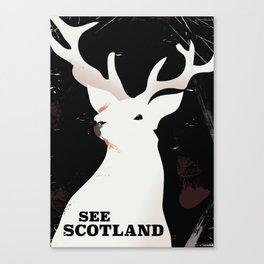 See Scotland vintage style travel poster Canvas Print