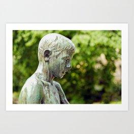 Sculpture of a Boy Art Print
