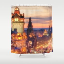CLOCK TOWER-EDINBURGH Shower Curtain
