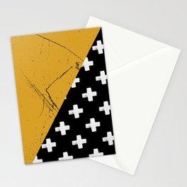 Swiss crosses (grunge) Stationery Cards