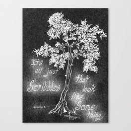 It's All Just Scribbles Canvas Print