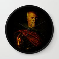 picasso Wall Clocks featuring King Picasso by Joe Ganech