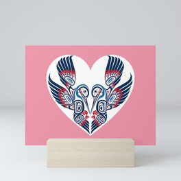 Hummingbird Hearts Mini Art Print