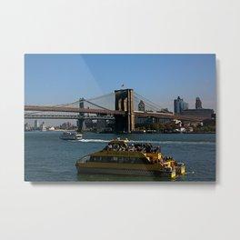Water Taxi to Brooklyn Metal Print