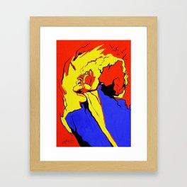 In Flammen Framed Art Print