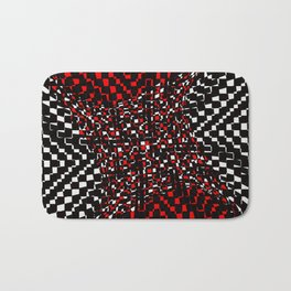 black white red 3 Bath Mat