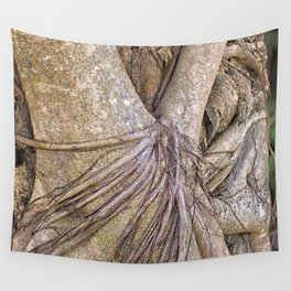 Strangler fig close up view Wall Tapestry