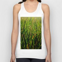 grass Tank Tops featuring Grass by Efua Boakye