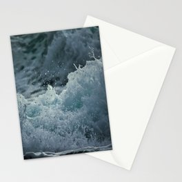 Blue Ocean Waves Crashing  Stationery Cards