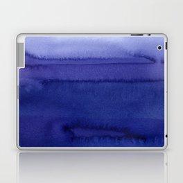Blue Violet Watercolor Horizontal Stripes Abstract Laptop & iPad Skin