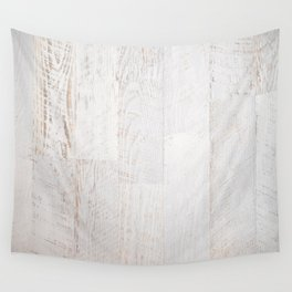 Vintage White Wood Wall Tapestry