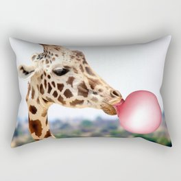 Bubble Gum Giraffe Rectangular Pillow