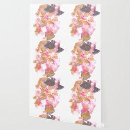 Watercolor Pink Black Flow | [dec-connect] 5. choppy Wallpaper