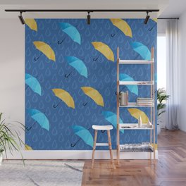 Spring Umbrellas fresh pattern Wall Mural