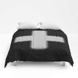 Halftone Plus Black Comforters