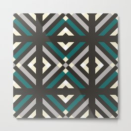 Dark Geometric Pattern Metal Print
