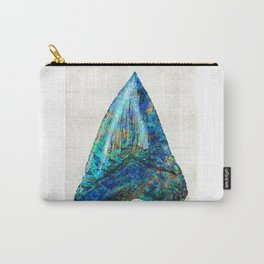 Blue Shark Tooth Art by Sharon Cummings Carry-All Pouch