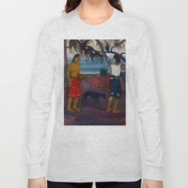 """Paul Gauguin """"I Raro te Oviri (Under the Pandanus)"""" Long Sleeve T-shirt"""