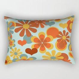 70's Flower Power Rectangular Pillow