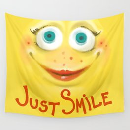 Just Smile :) Wall Tapestry
