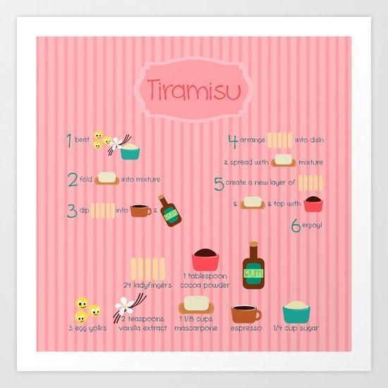 Tiramisu Art Print