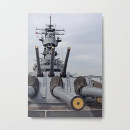 USS Iowa Metal Print