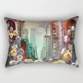New York City Spill Rectangular Pillow