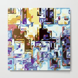 purple brown pink yellow and blue Metal Print