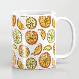 Illustrated Oranges and Limes Coffee Mug