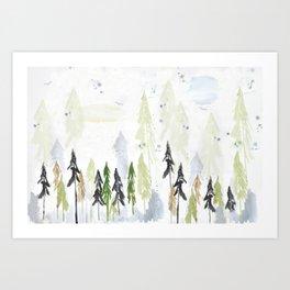 Into the woods woodland scene Art Print