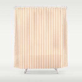 Bright Orange Russet Mattress Ticking Narrow Striped Pattern - Fall Fashion 2018 Shower Curtain