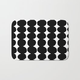 Stacking Pebbles Black and White Bath Mat
