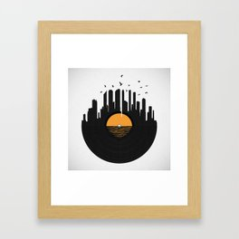 Vinyl City Framed Art Print