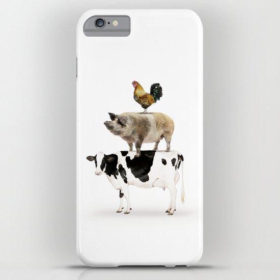 Three Stacked Farm Animals by amypetersonartstudio