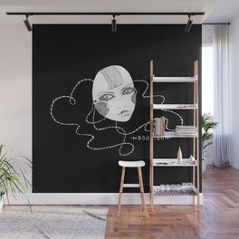 Doll Face Blackie Wall Mural