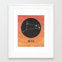 aries Framed Art Prints featuring Aries by snaticky