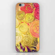 Red Gold and Green -- Ranunculus Flowers Still Life Painterly iPhone & iPod Skin