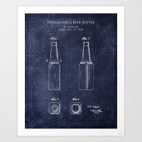 Beer Bottle Design  Art Print
