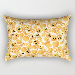 Candy Corn Emoji Pattern Rectangular Pillow