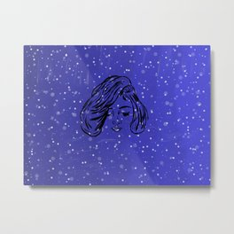 Indigo stars by night Metal Print