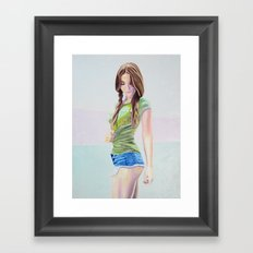 Re-Created Girl in Green, Maria by Robert S. Lee Framed Art Print