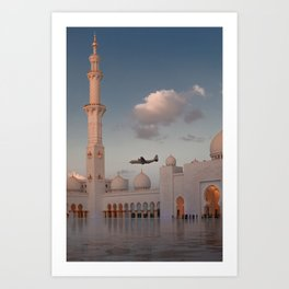 White Mosque in Abu Dhabi 2 Art Print