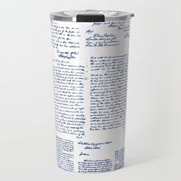 George Washington's Letters // Blue Ink Travel Mug