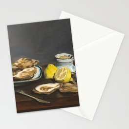 Oysters by Edouard Manet, 1862 Stationery Cards