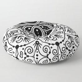 Lotus Blossom Mandala – Black Palette Floor Pillow