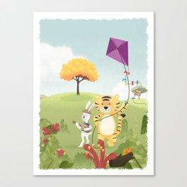 Tiger and Rabbit Canvas Print