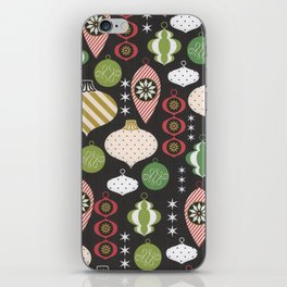 Christmas Vintage Ornaments iPhone Skin
