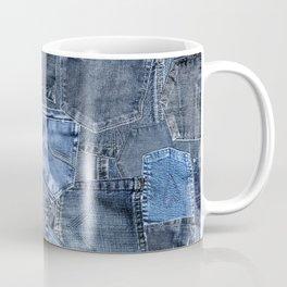 Blue Jeans Pocket Patchwork Pattern Coffee Mug