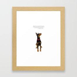 doberman Framed Art Print
