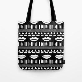 TRIBAL White and Black Tote Bag